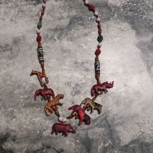 Jewelry - African Animal and Bead Necklace